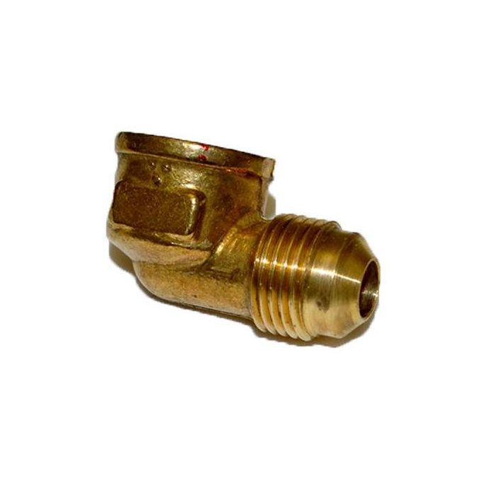 HPC 90 Degree Female Elbow Brass Fitting, 3/8-Inch Tube, 3/8-Inch FIP