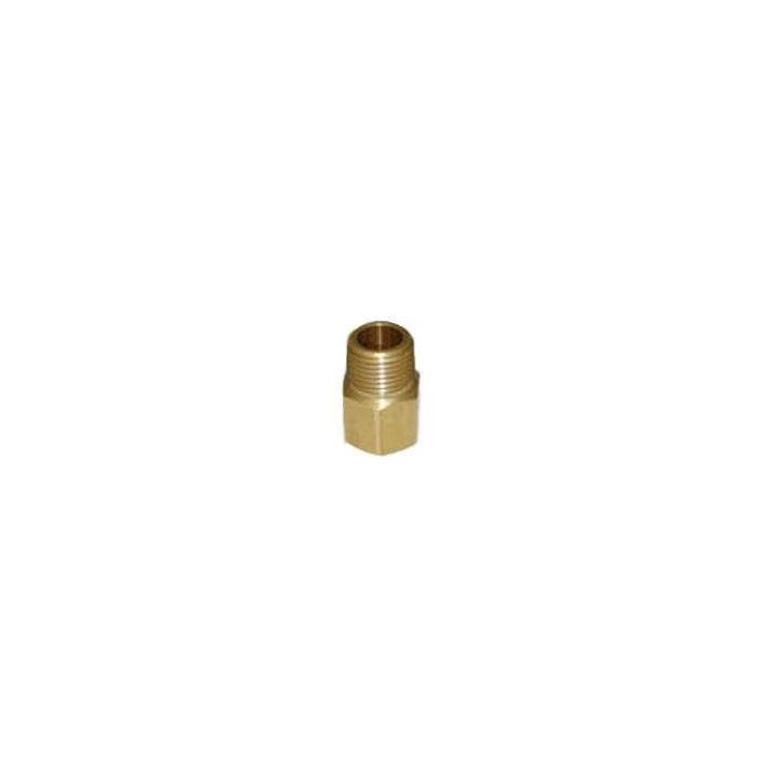 HPC Brass Pipe Adaptor Fitting, 1/2-Inch FIP to 1/2-Inch MIP