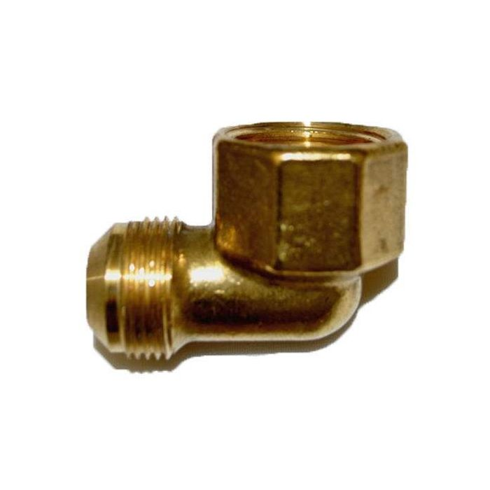 HPC Brass 90 Degree Female Elbow Pipe Fitting, 3/4-Inch MIP to 15/16-Inch FIP