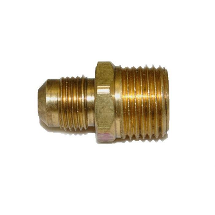 HPC Male Connector Brass Fitting, 3/8-Inch Tube, 1/2-Inch MIP
