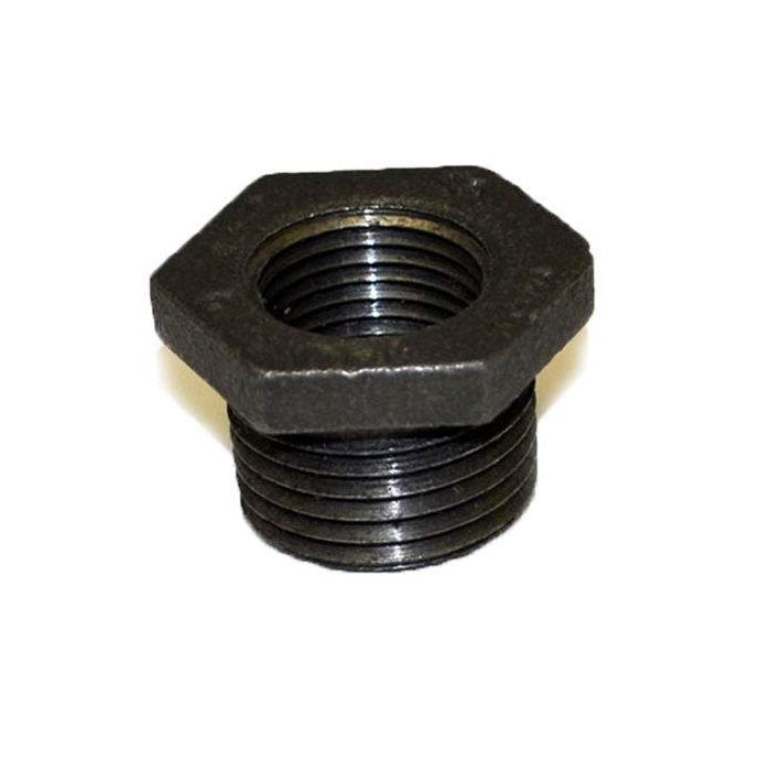 HPC Black Iron Male Flare Reducer, 1/2-Inch MPT to 1/8-Inch Flare