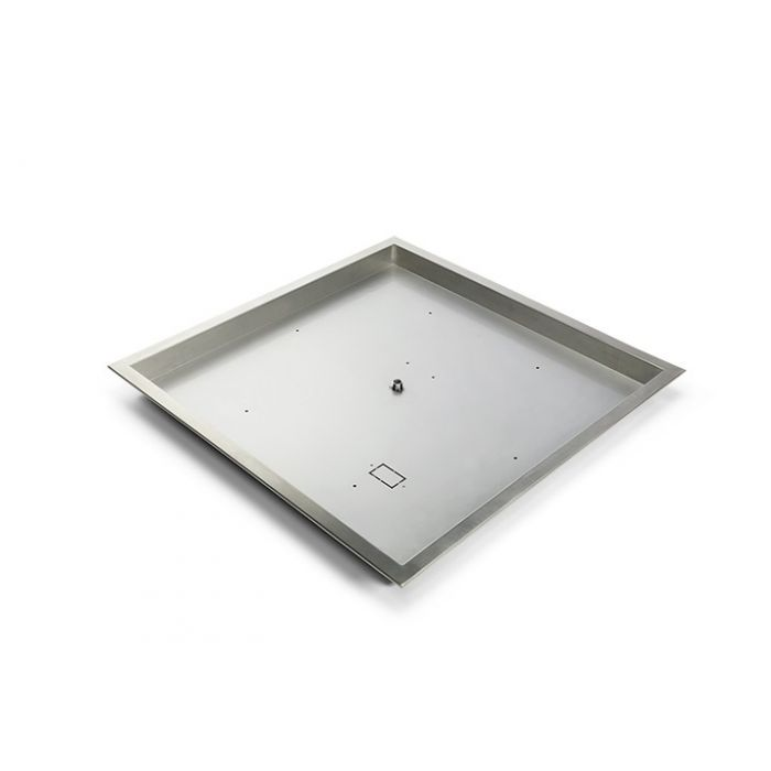Hearth Products Controls Stainless Steel Square Fire Pit Bowl Pan