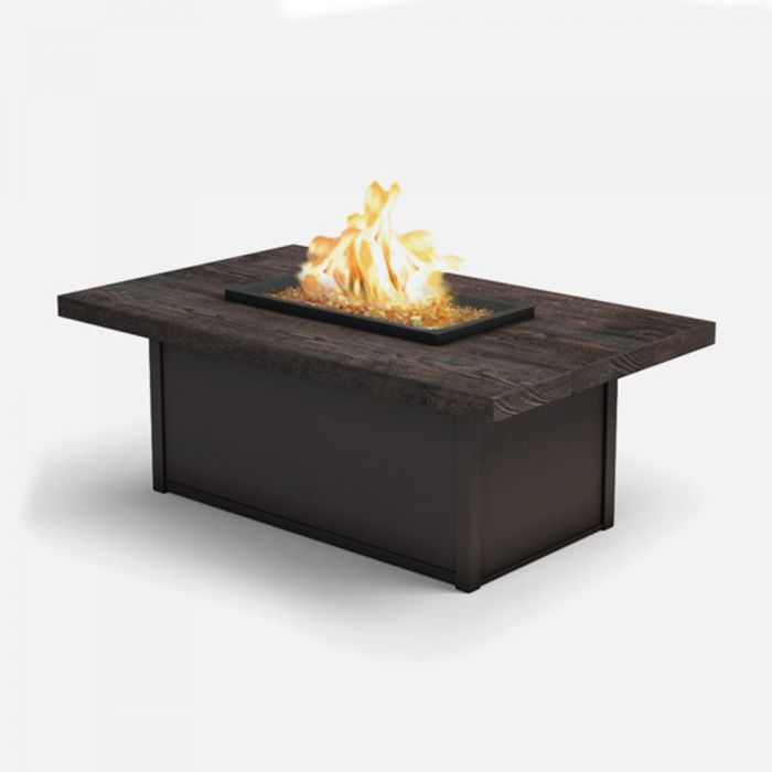 Homecrest Timber Collection Rectangle Coffee Gas Fire Pit Table