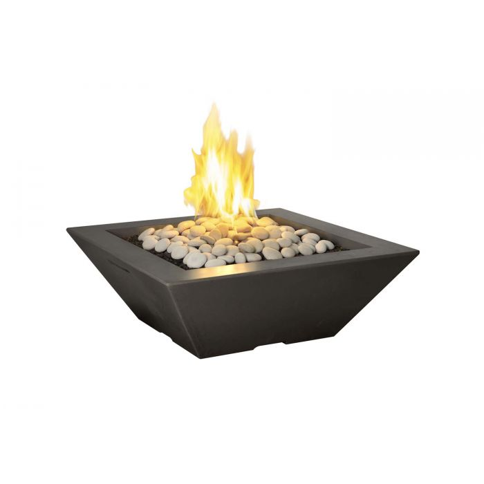 American Fyre Designs Lyon Square Pyramid Fire Bowl, 36-Inch