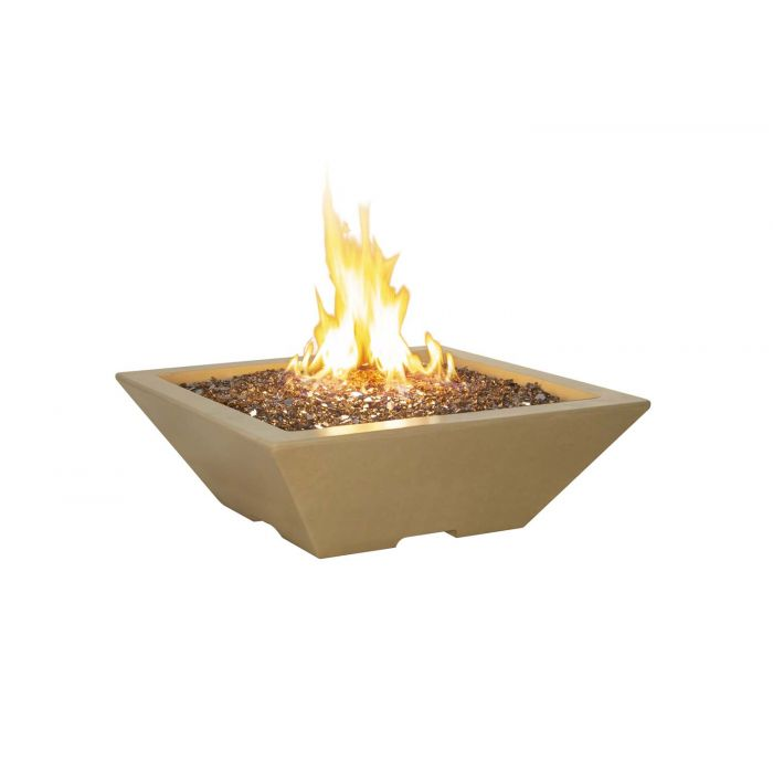 American Fyre Designs Lyon Petite Square Pyramid Fire Bowl, 30-Inch