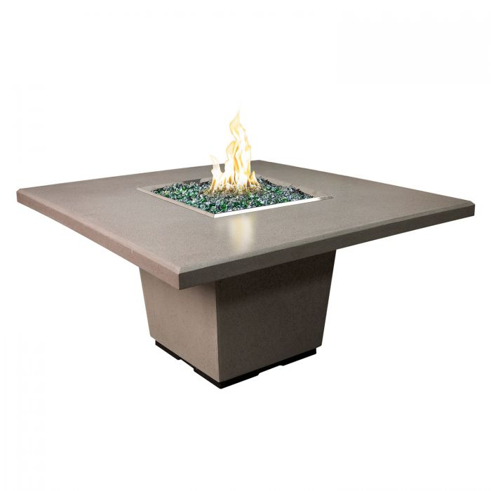 American Fire Designs Cosmopolitan Square Dining Height Firetable