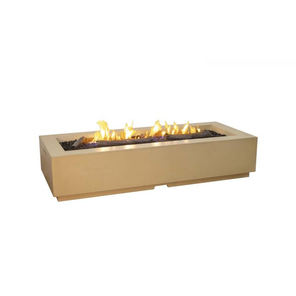 American Fyre Designs Louvre Long Rectangle Fire Pit, 72.25x30.25-Inch