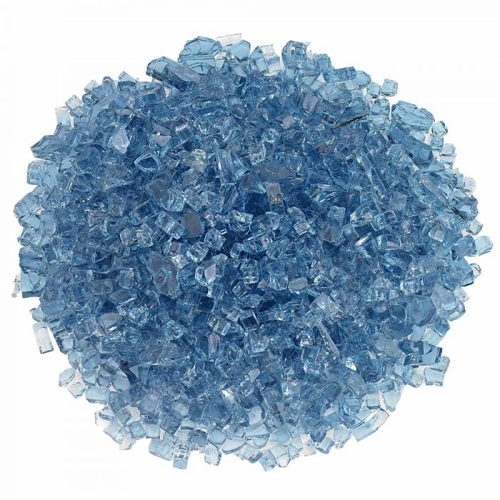 American Fireglass 10-Pound Classic Fire Glass, 1/4 Inch, Pacific Blue