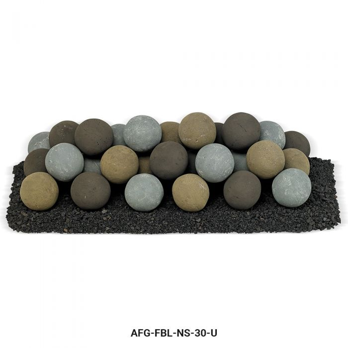 American Fireglass Uniform Ceramic Lite Stone Balls, Natural