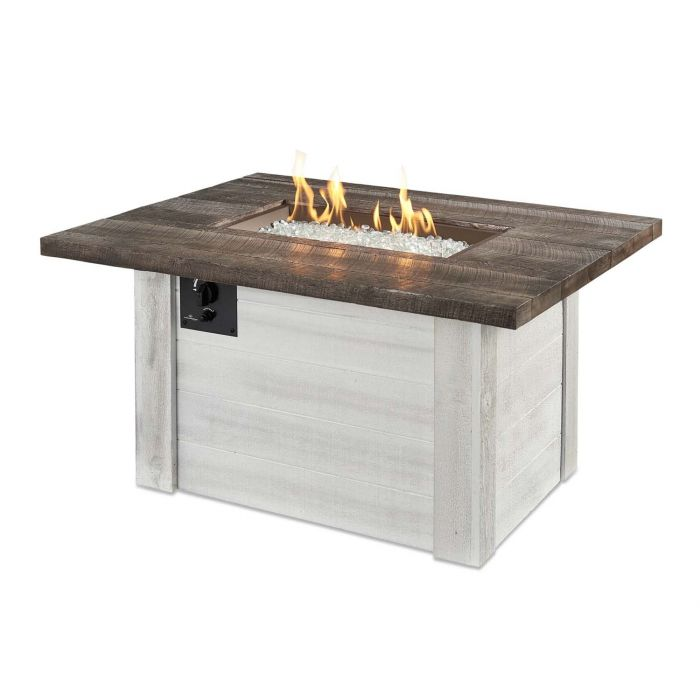 The Outdoor GreatRoom Company ALC-1224 Alcott Gas Fire Pit Table, 36.75x48-Inches