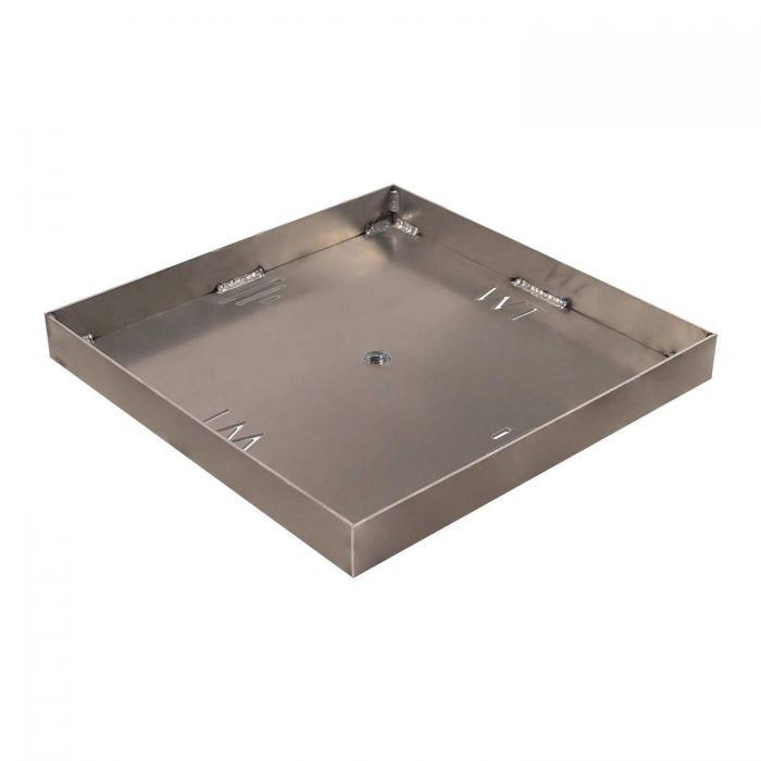 Warming Trends Aluminum Fire Pit Burner Pan with 2-Inch Side Walls, Square