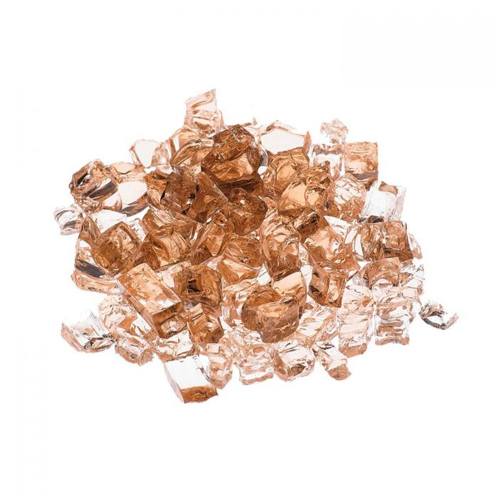 Prism Hardscapes PH-420-1 1/4-inch Metallic Fireglass, 5 LB, Amber