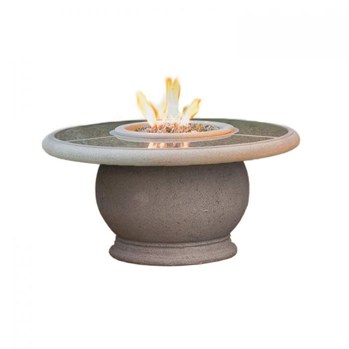American Fire Designs Amphora Chat Height Firetable with Granite Inset