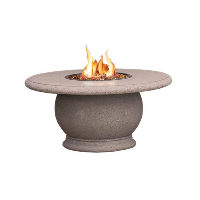 American Fire Designs Amphora Chat Height Firetable with Concrete Top