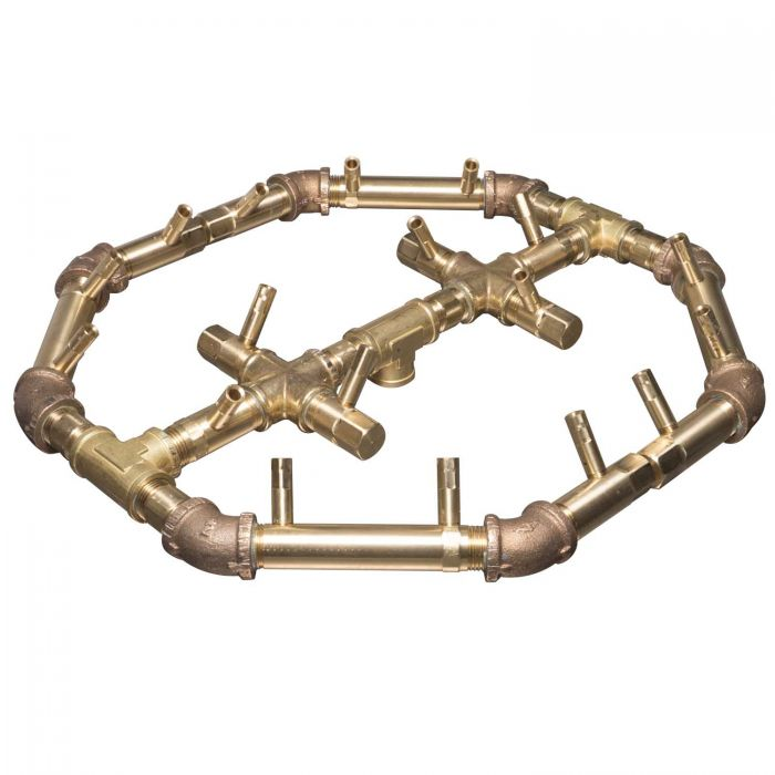 Warming Trends Crossfire Octagonal Tree-Style Linear Brass Fire Pit Burner