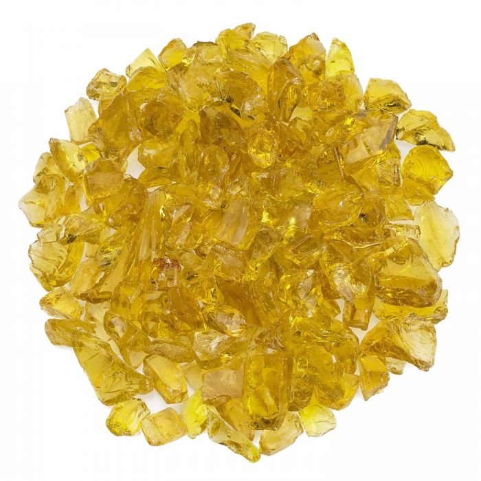 American Fireglass 10-Pound Recycled Fire Glass, 3/4 Inch, Yellow