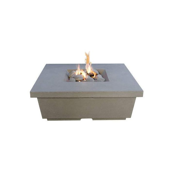 American Fyre Designs Contempo Chat Height Fire Table, Square
