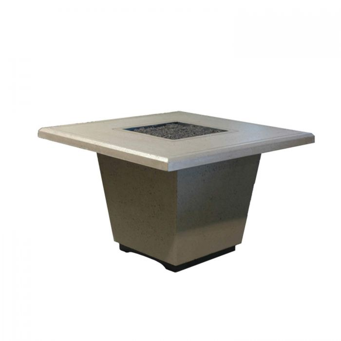 American Fire Designs Cosmopolitan Square Chat Height Firetable
