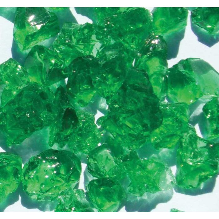 Warming Trends 1-Pound Recycled Fireglass, 3/4-Inch, CR Green 4