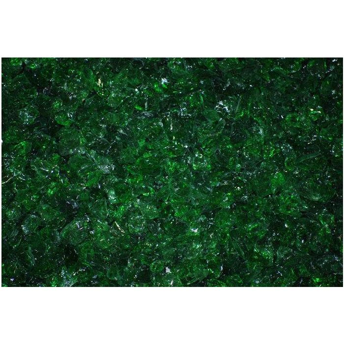 Warming Trends 1-Pound Recycled Fireglass, 3/4-Inch, CR Green 6