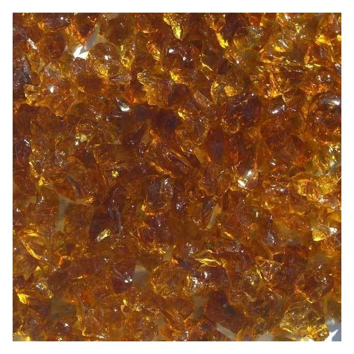 Warming Trends 1-Pound Recycled Fireglass, 3/4-Inch, CS Amber 4