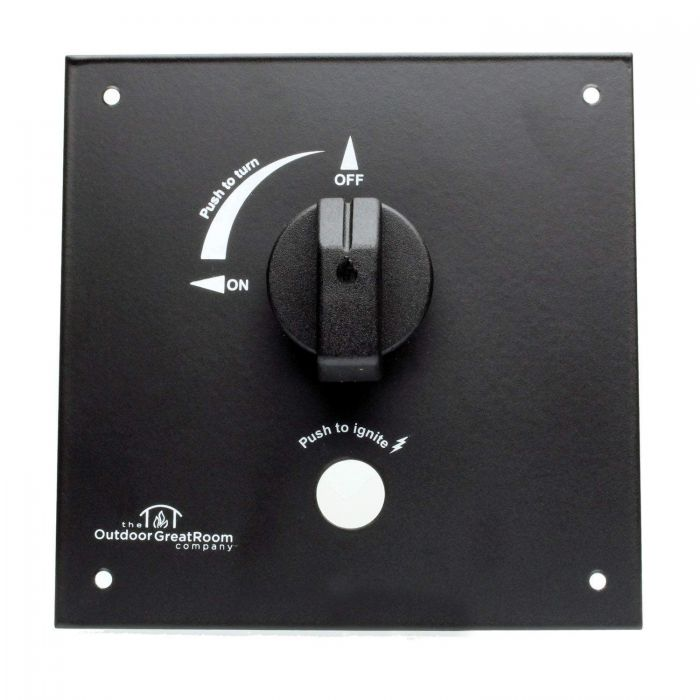 The Outdoor GreatRoom Company CT-CONTROL-PANEL Control Panel Valve Kit with Knob, 6.5x6.5-Inch Panel