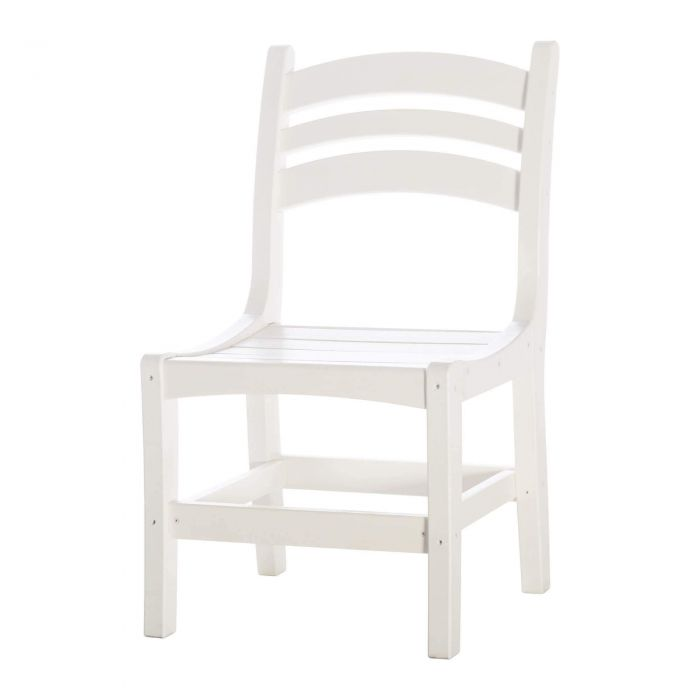 Pawleys Island DC1WH Casual Dining Chair, White