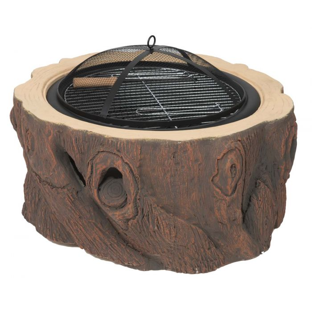 Dagan DG-FP-1021 Stump Design Wood Burning Fire Pit