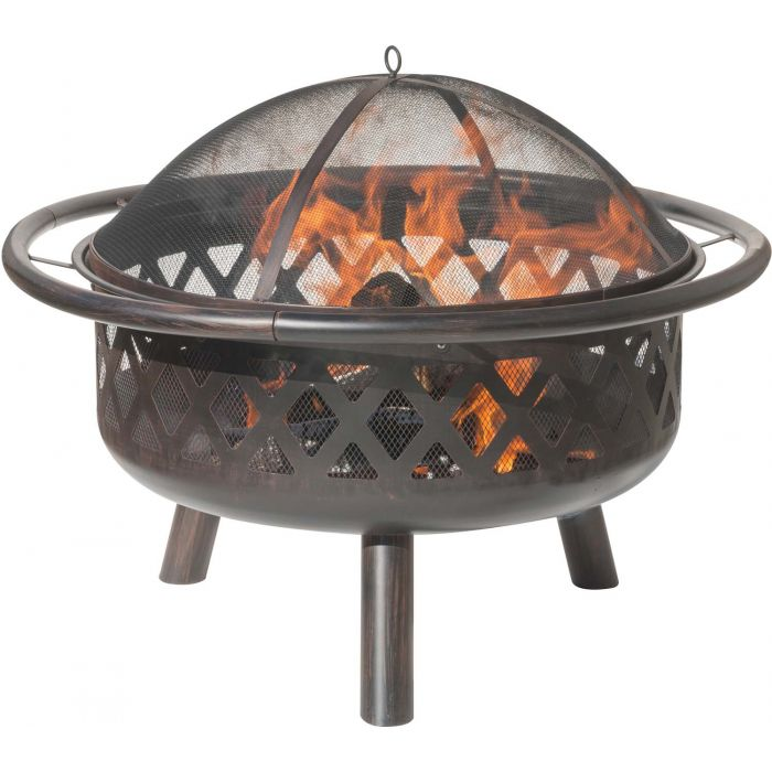 Dagan DG-FP-1024 Criss Cross Style Wood Burning Fire Pit
