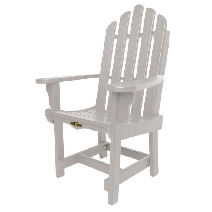 Pawleys Island DWDCA1GRY Essentials Dining Chair with Arms, Gray