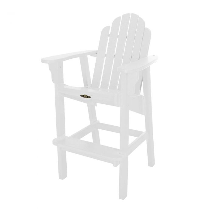 Pawleys Island DWHDC1WH Essentials High Dining Chair, White