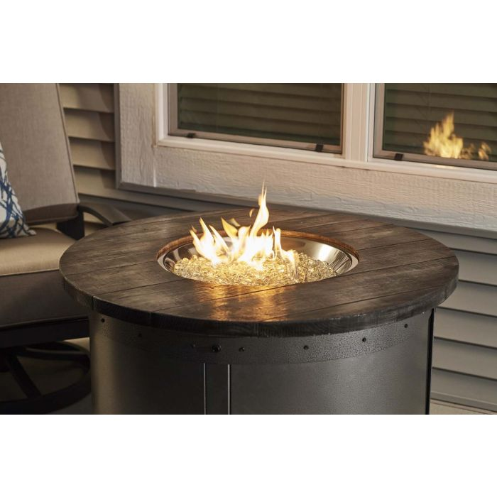 The Outdoor GreatRoom Company ED-20 Edison Round Gas Fire Pit Table, 39.5-Inches