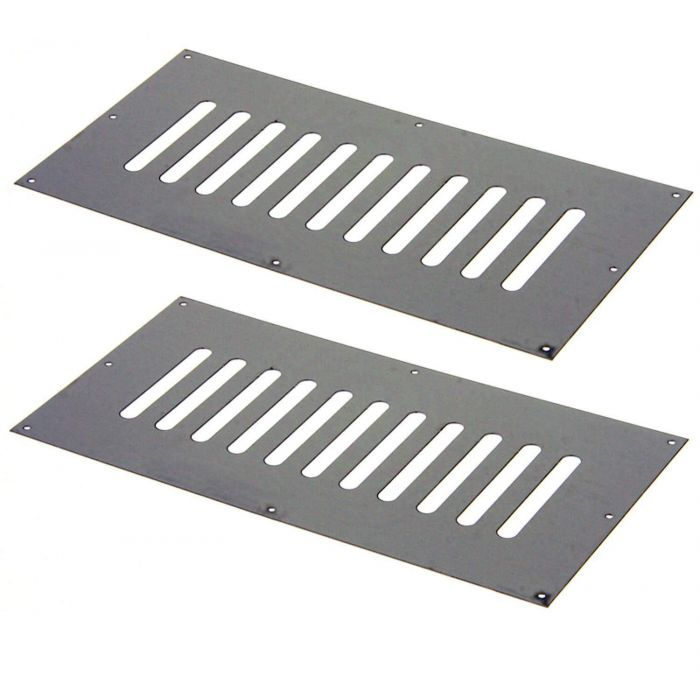Hearth Products Controls Flat 9x4 Inch Stainless Steel Enclosure Vents, Set of 2