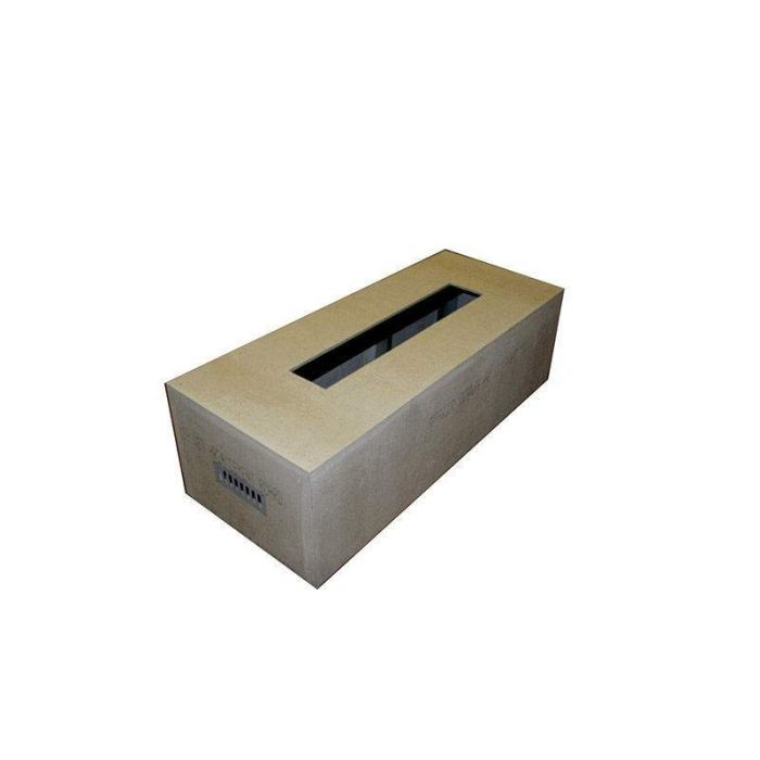 Hearth Products Controls Rectangular 60 x 24 Inch Unfinished Fire Pit Enclosures for 49x8 Inch Burner Pans