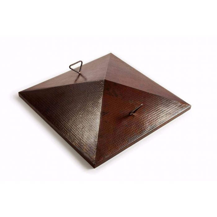 Hearth Products Controls Square Hammered Copper Cover for 40 Inch Sedona Bowl