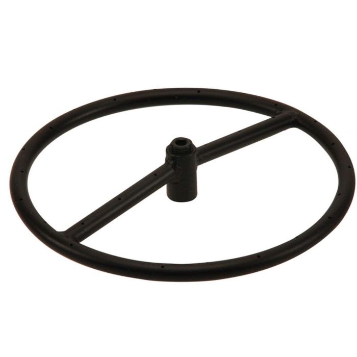 Hearth Products Controls Round Black Iron Fire Pit Burner, 12-Inch, Propane