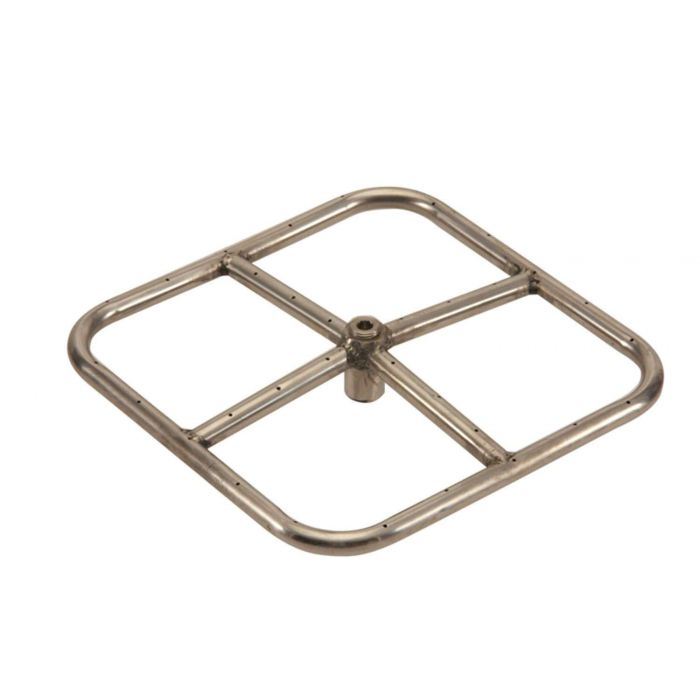 Hearth Products Controls Square Stainless Steel Fire Pit Burner, 12x12-Inch, Natural Gas