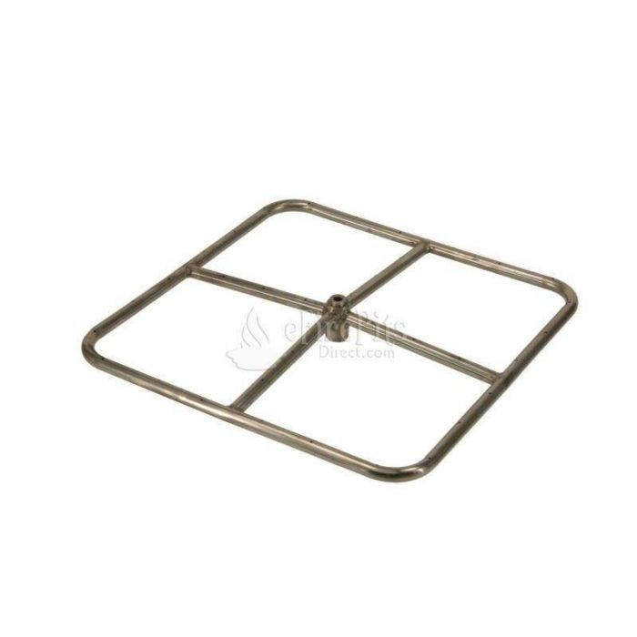 Hearth Products Controls Square Stainless Steel Fire Pit Burner, 18x18-Inch, Natural Gas