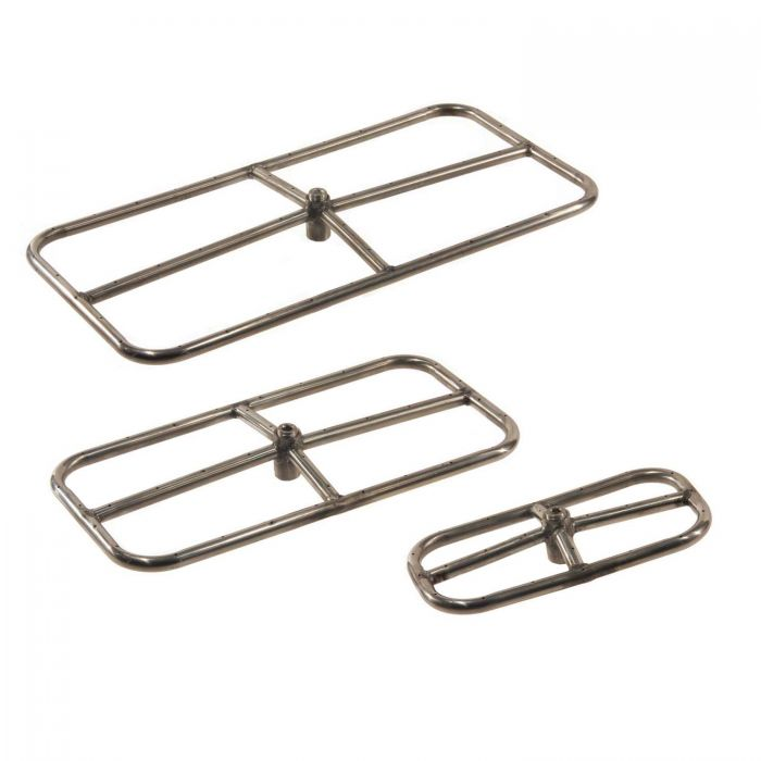 Hearth Products Controls Rectangle Stainless Steel Fire Pit Burners