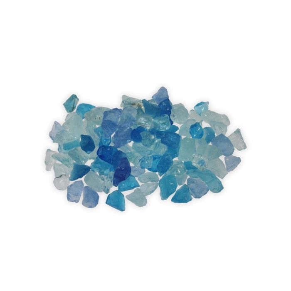 Firegear GT-LT-BLUE  5-Pound Broken Large Fire Glass, 1/2 to 3/4-inch, Caribbean Blue