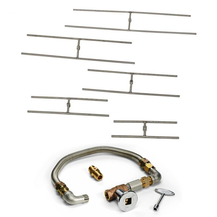 Hearth Products Controls FPS H Burner Match Light Gas Fire Pit Kit