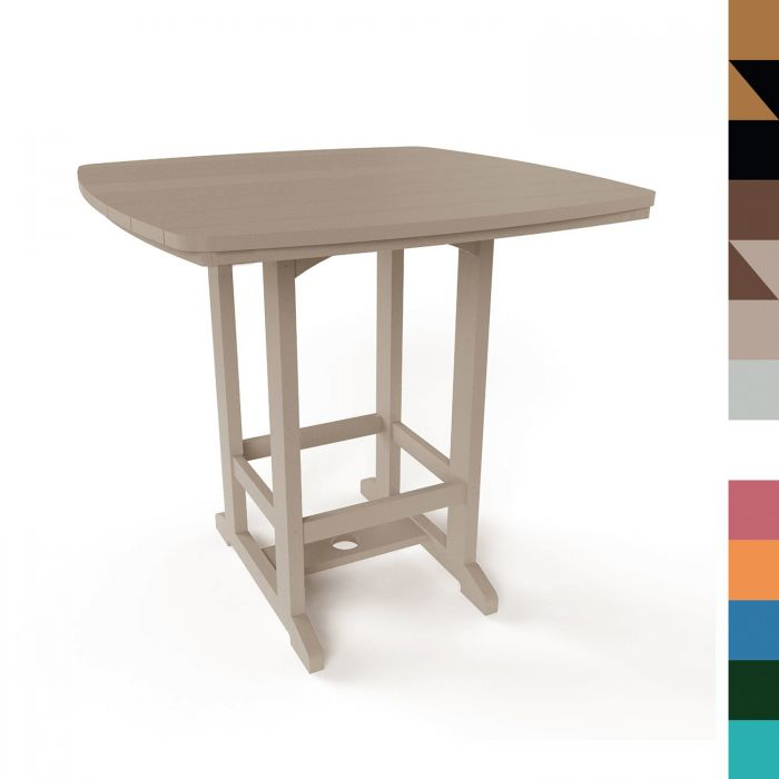 Pawleys Island HDT2 Square Counter Height Table, 26-Inch