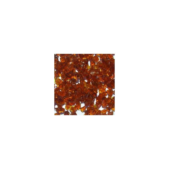 Warming Trends 1-Pound Recycled Fireglass, 3/4-Inch, Burnt Orange