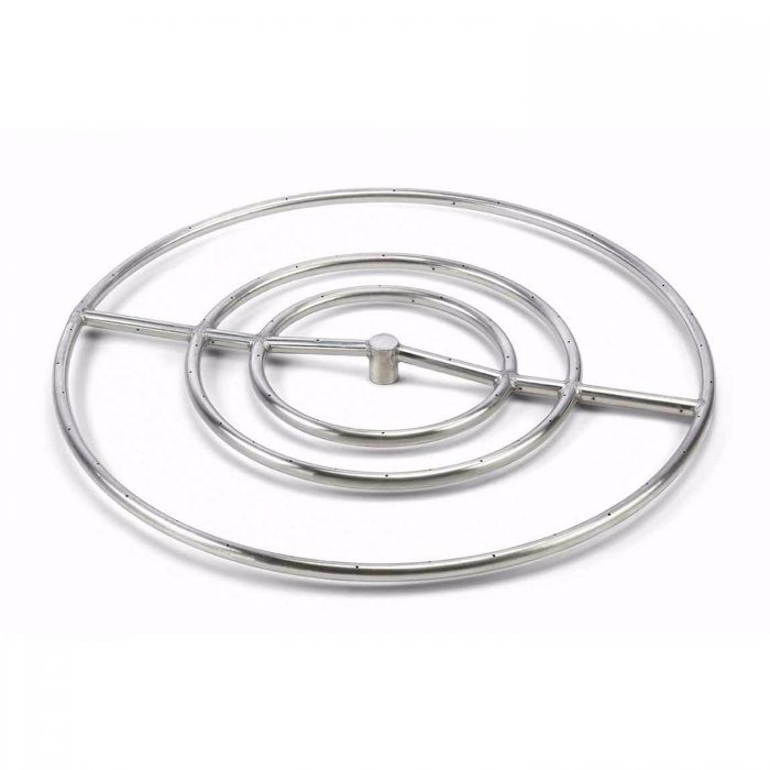 Hearth Products Controls Round Stainless Steel Fire Pit Burner, 30-Inch High Capacity, Propane