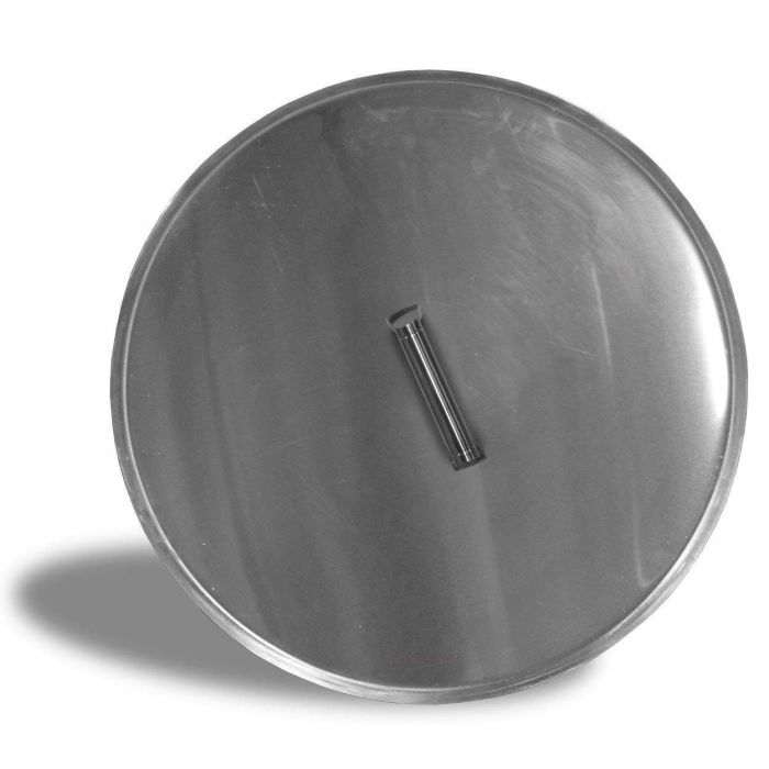 Firegear LID-19R Stainless Steel Burner Cover with Brushed Finish, Round, 19-inch