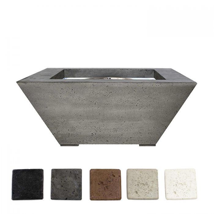 Prism Hardscapes PH-416 Lombard Concrete Gas Fire Pit, 40x40-Inch