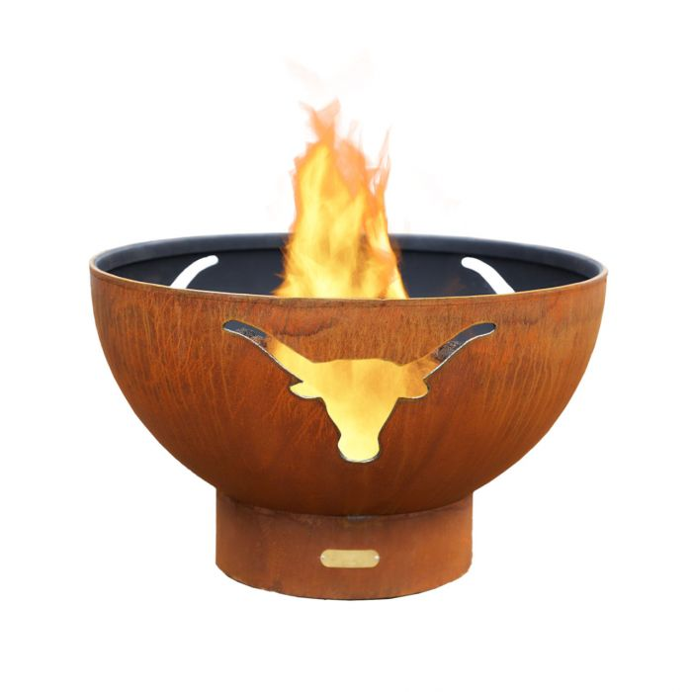Fire Pit Art Long Horn Gas Fire Pit