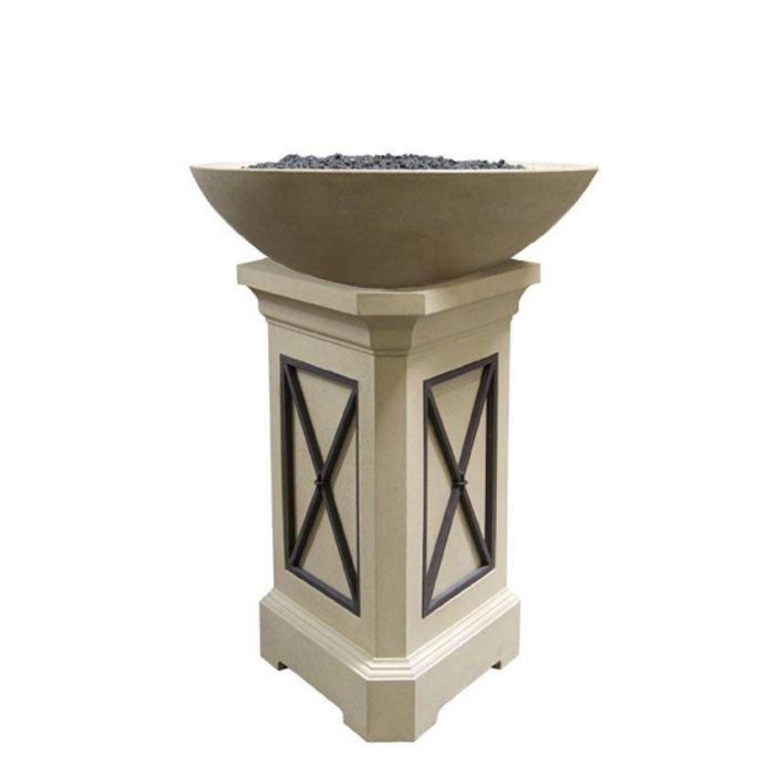 American Fyre Designs Marseille 24-Inch Fire Bowl with 44-Inch Pedestal