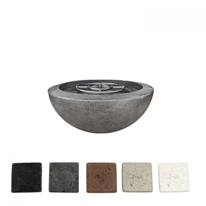 Prism Hardscapes PH-401 Moderno 2 Concrete Gas Fire Pit, 29-Inch