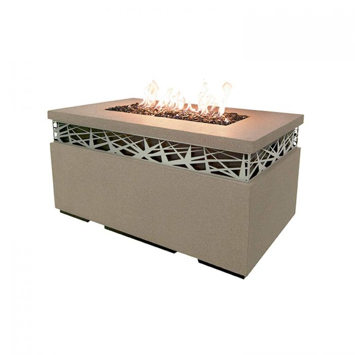 American Fyre Designs Nest Rectangle Chat Height Fire Table